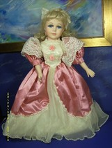 VICTORIAN ROSE COLLECTION PORCELAIN DOLL NUMBERED 847B CERTIFICATE AUTHE... - $24.26