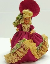Vintage Tiny Plastic Doll Southern Belle - $10.78