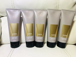 5 Bath & Body Works Mens Collection Suede Ultra Shea Body Cream Lotion Hand 8 oz - $59.10