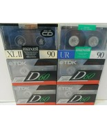 Lot Of (6) NEW! TDK D60 High Output Maxell 90 Audio Cassette Tapes SEALED! - $11.63