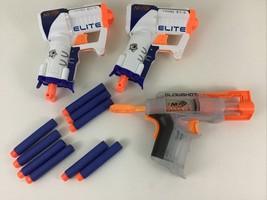 Nerf N-Strike Elite Triad EX-3 Dart Guns Glowshot Light Up 3 Dart Gun Hasbro - $20.45