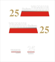 YAMAHA 25 - Outboard decal set, reproduction - $27.00