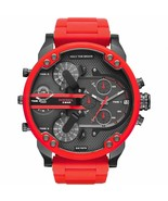 New Diesel DZ7370 Red Mens MR Daddy 2.0 57MM Chronograph Watch - £319.86 GBP
