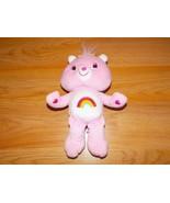 """2007 9"""" Cheer Bear Care Bear Plush Pink Rainbow Tummy & Hair Bow Stuffed... - $14.00"""