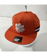Nike True Clemson Tigers Snapback Hat Cap Orange White Paw Print Purple ... - $17.41