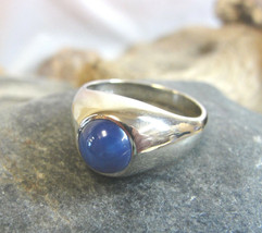 VINTAGE 14K White Gold Star Sapphire Ring ~ U.S. Size 9.25 - $573.21