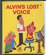 Vtg 1963 Alvin & the Chipmunks Alvin's Lost Voice Wonder Book Nice David... - $14.99