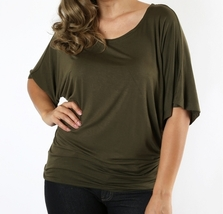 Plus Size Dolman Sleeve Tops, Plus Size Tops, Plus Size Batwing Tops, Olive