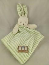 Blankets & Beyond Rabbit Lovey Green Stripes Security Blanket Plush Stuf... - $38.58