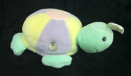 "Eden Turtle Musical VIntage Plush Head Moves Pastel Yellow Green 9"" - $33.85"