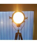 Nautical Floor Lamp With Adjustable Wooden Stand Vintage Spotlight Bedro... - $157.35