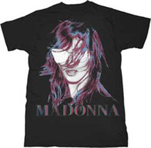 Madonna-MDNA Face + Logo Graphics-X-Large Black T-shirt - $12.59