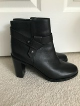 Via Spiga Women's Farrah Black Leather Ankle Boot Size 9 EUC - $74.79