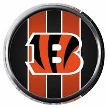 Cincinnati Bengals Cool Stripe NFL Football Logo 18MM - 20MM Snap Jewelr... - $5.95