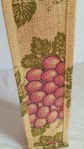 "NNT BURLAP JUTE PAINTED WINE BOTTLE GIFT BAG, GRAPES, 12.5""TALL, 4""WIDE,... - $4.94"