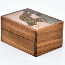 Northwoods Wooden Parquetry Black Bear Country Rustic Cabin Mini Trinket Box image 4