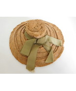 Antique Straw Hat for a Medium - Small French Fashion Doll - $58.99