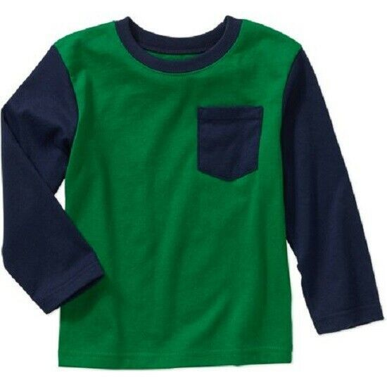 Primary image for Garanimals Toddler Boy Long Sleeve Colorblock Pocket Tee Size 2T NWT