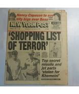 New York Post September 3 1987 Nancy Capasso Shopping List of Terror Kho... - $39.99