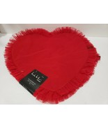 Nicole Miller Valentines Heart Shaped Ruffle Red Placemats Set of 4 - $39.99