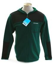 Columbia Tech Trail Black & Green Zip Front Hybrid Hoodie Jacket Men's NWT - $59.99