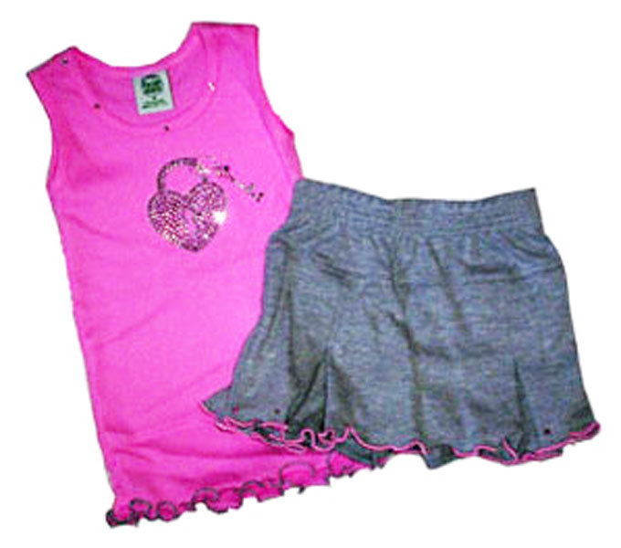 Girls Top and Skort Lock and Key Set