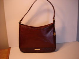Authentic Brahmin Noelle Cognac Quincy Shoulder Bag Leather New With Tag - $193.04