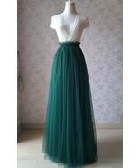 DARK GREEN Wedding Bridesmaid Full Tulle Skirt High Waist Dark Green Tul... - $58.50