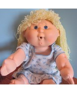 """Cabbage Patch Kids 15"""", Xavier Roberts baby doll yellow yarn hair blue e... - $22.28"""