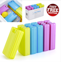 Reusable Ice Packs For Travel Food Cooling Set Camping Picnic Fresh Cool... - €9,60 EUR