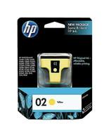 NEW Genuine Original HP 02 Yellow Printer Ink Cartridge C8773WN EXP Oct ... - $8.32