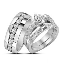 Engagement ring and wedding band. center sold separately. stock er7015  924x784  177.99 thumb200