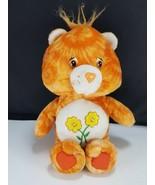 "Friend Bear Care Bear Plush Stuffed Animal Orange w/ Flowers 8"" Beanie H... - $12.86"