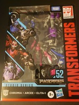 Arcee,Chromia & ELITA-1(3 Figures)Transformers Generations Studio Series #52 - $31.19