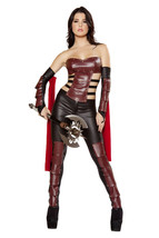 Women Warrior Gladiator Cosplay Strappy Suits Halloween Party Costume - $60.94