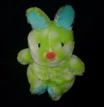 "10"" Animal Adventure 2016 Baby Green Blue Bunny Rabbit Easter Stuffed Plush Toy - $23.38"