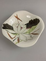 """Red Wing Pottery Hand-painted Lotus Bronze Serving Bowl 7.5""""   - $14.80"""