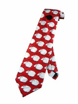 Fratello Mens Black Sheep Funny Necktie - Red - One Size Neck Tie - $19.99
