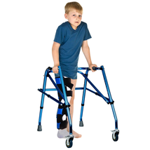 Adjustable Walker Folding Small Aluminum Walker W/ Wheel for Seniors & ... - $73.02