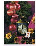Holland Netherlands Postcard Happy New Year Ornaments Clock Horseshoe - $2.84