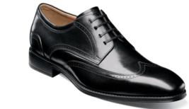 Florsheim Mens Shoes Amelio Oxford Black Wingtip 14242-001 - $120.99