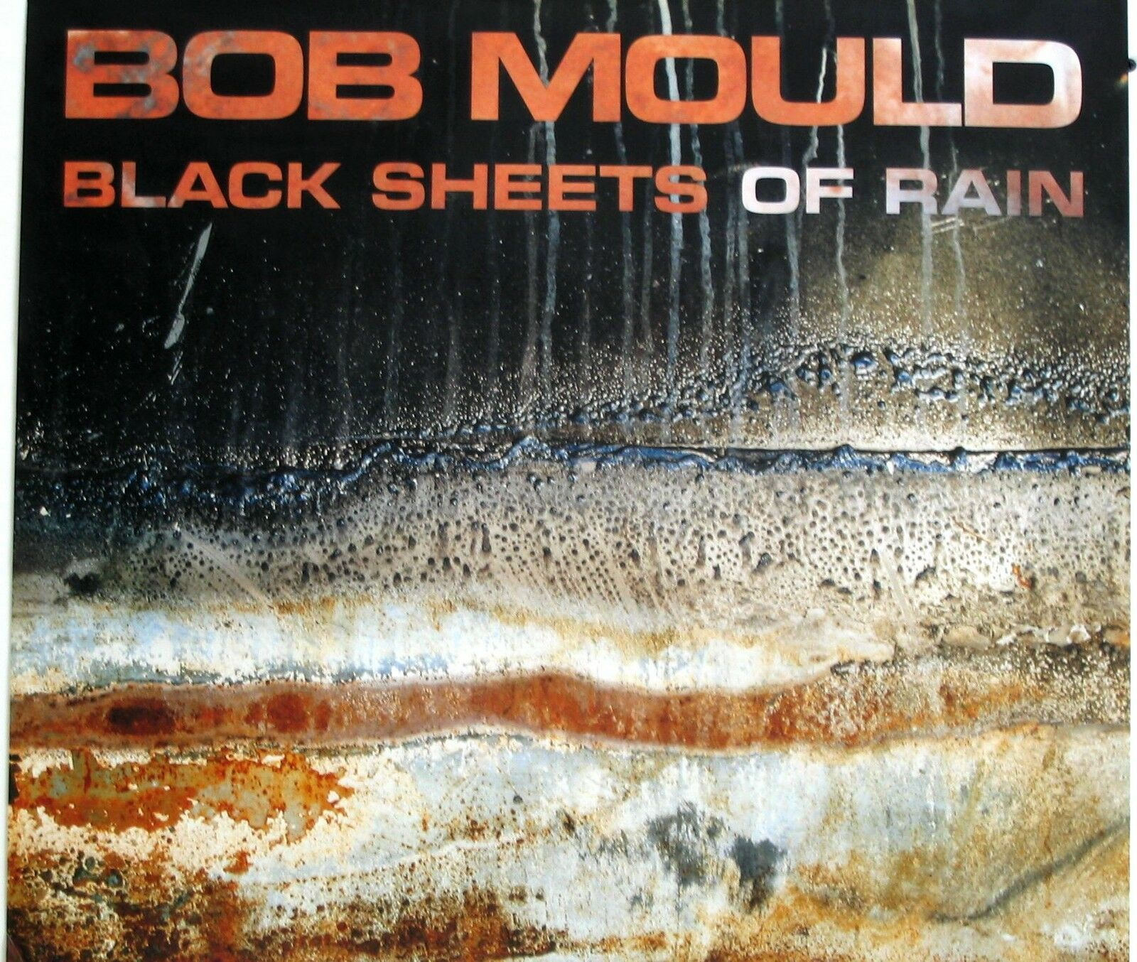 Primary image for BOB MOULD POSTER, BLACK SHEETS OF RAIN (M7)