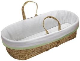 Baby Doll Bedding Forever Mine Moses Basket, Sage - $46.37