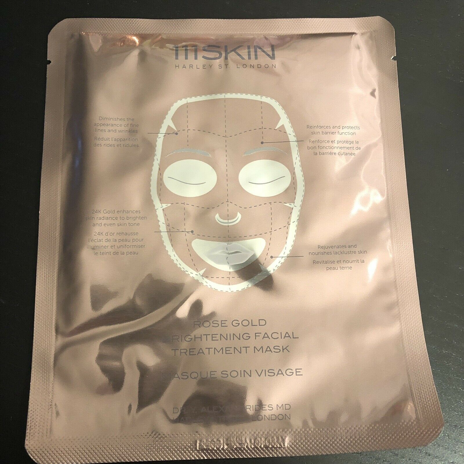 TWO (2) 111 Skin Rose Gold Brighteninf Facial Treatment Mask RETAIL VALUE $70