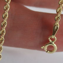 18K YELLOW GOLD BRACELET, BRAID ROPE MESH, 7.30 INCH LONG, MADE IN ITALY image 3
