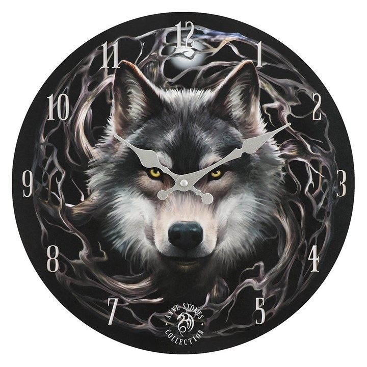 Primary image for MDF Night Forest Wolf Wall Clock 13930