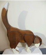 Hand Crafted Folkart Dog Wood 13.5 x 11 Inches - $19.00