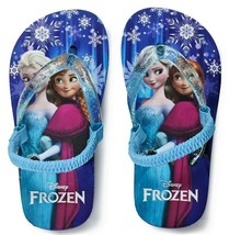DISNEY FROZEN ANNA ELSA Flip Flops w/ Optional Sunglasses Toddlers Beach... - $9.89+