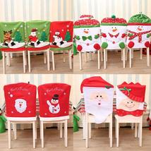 Gift Santa Claus Elk Snowman Cap Cover Christmas Dinner Table Party Red ... - $5.14+