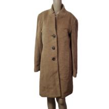 DKNY Womens Single-Breasted Walker Coat Alpaca Wool Brown 6 - $275.00
